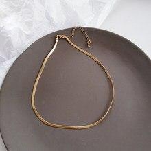 Einzigen Design Choker Halskette Goldener Überzug Kurze Kette Halskette Für Frauen Schmuck Shiny Frauen Schmuck Mädchen Student Party Geschenk