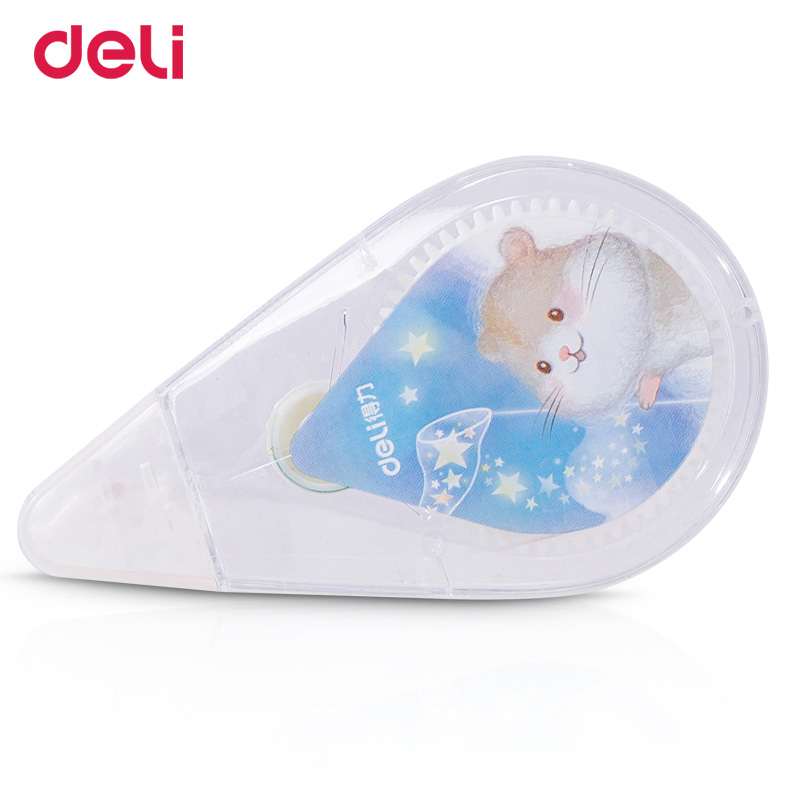 Deli 30M Large Capacity Kawaii Correction Tape Correction Roller Multifunctional School Supplies Safe For Student Office