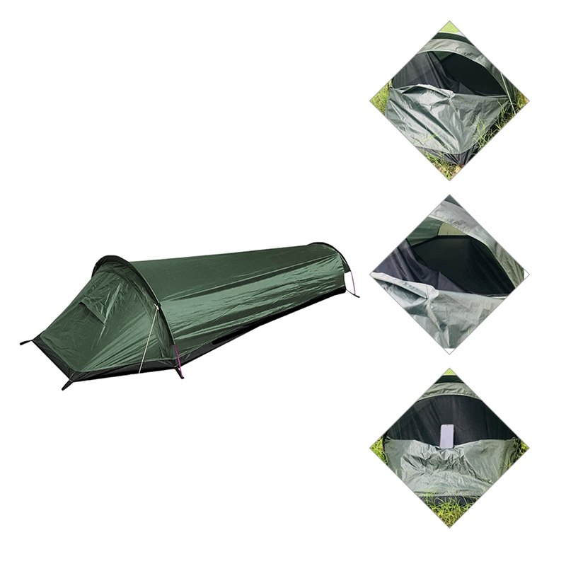 Ultralight Bivy Tent Single Person Backpacking Camping Tent Waterproof Bivy Sack for Outdoor Travel Survival Bushcraft
