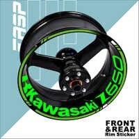 La rueda de la motocicleta pegatinas para Kawasaki z650 borde calcomanías accesorios 2020, 2019, 2017, 2018
