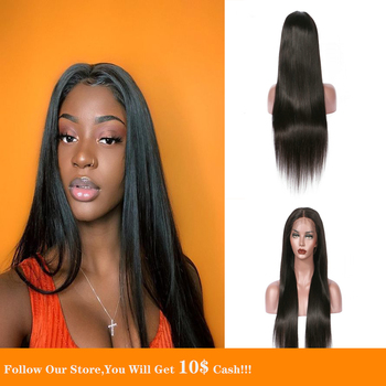 Black 13x4 Lace Front Human Hair Wigs Preplucked Transparent Wig Long Silky Straight Closure Wig Natural Free For Brazil Hair