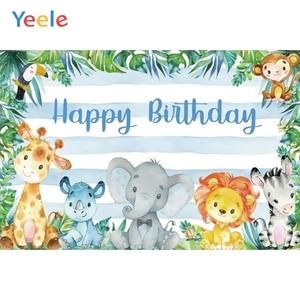 Image 4 - صور خلفيات سفاري حيوانات استوائية لحفلات استحمام الطفل ملصق صور خلفيات فينيل صور للتصوير بالاستوديو للأطفال