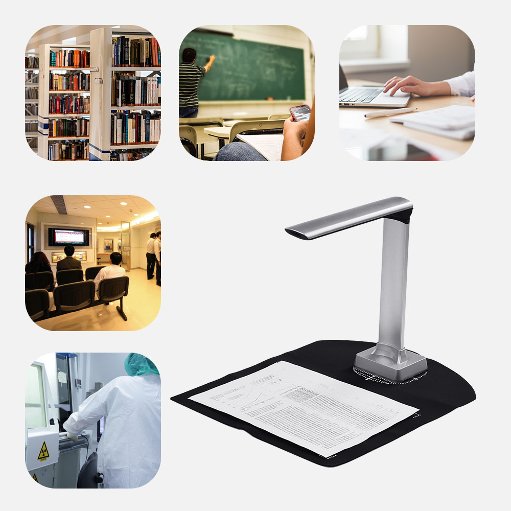 Aibecy BK30 Document Camera 5 Mega-pixel High Definition Portable Scanner Capture Size A4 Scanners Support 7 Languages