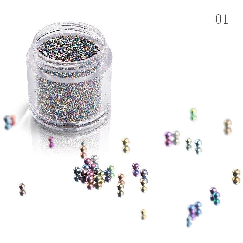 15 г/кор 8 мм икра бусины 1 бутылка мини дизайн ногтей стеклянные