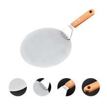 10/12 Inch Stainless Steel Pizza Shovel Spatula Large Round Pizza Paddle for Kitchen Oven Pizza Bread Cake Transfer Baking Tools