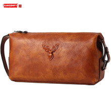 Handbag Leather Men's Clutch Bag Large-capacity Men Wallet Soft Leather Business Casual Fashion New Tide Mobile Phone Bags