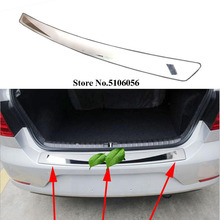 цена на Stainless Steel Rear Bumper Protector Sill Trunk Guard Cover Trim For Toyota Camry 2006 2007 2008 2009 2010 2011 Car Accessories