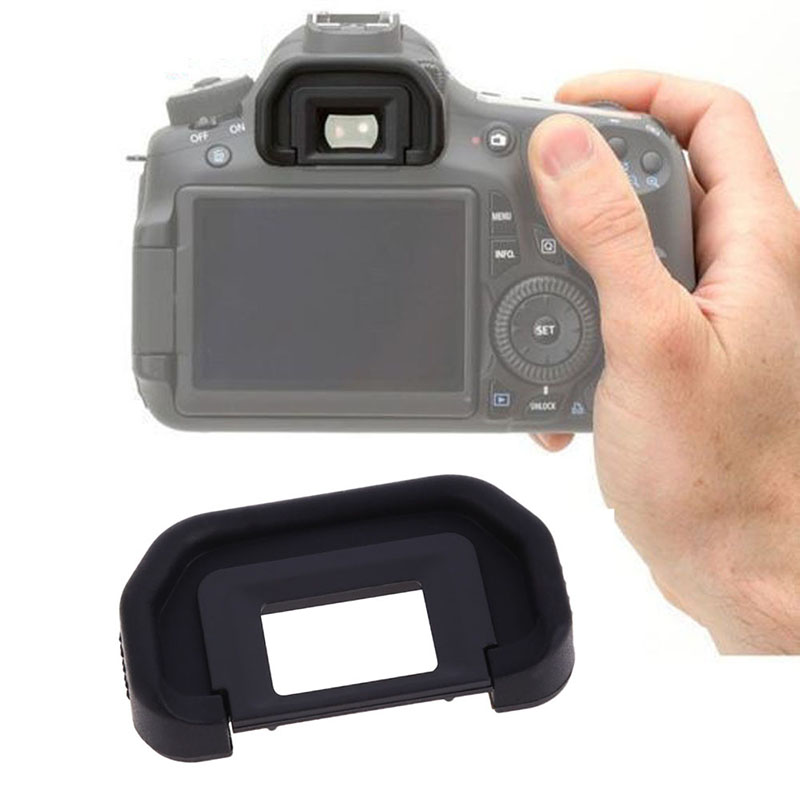 New Black Rubber Eyecup for <font><b>Canon</b></font> DSLR <font><b>EOS</b></font> 20D 50D 60D <font><b>550D</b></font> 600D 650D Mark II Camera Eye Cup Eyepiece Viewfinder <font><b>Accessories</b></font> image
