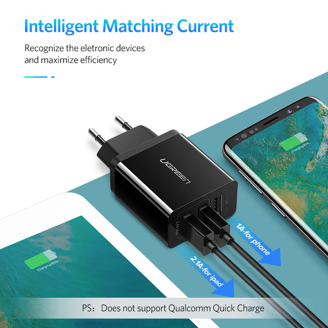 Ugreen USB Charger for iPhone Xs X 8 7 Fast Phone Charger for Samsung Xiaomi Huawei Wall Charger EU Adapter Mobile Phone Charger 3