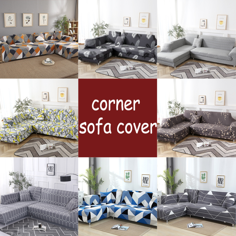 L Shape Sofa Covers Spandex For Living Room Gray Slipcover Stretch Sofa Chair Cover Corner Sofa Couch Cover Elastic Funda Sofa