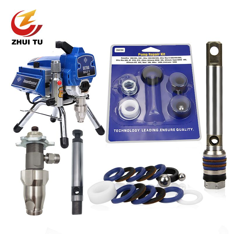 ZHUITU Airless Sprayer Filter Pump Plunger Rod 695 795 Seal Gasket For Graco 390/395/490/495 PC Series Airless Painting Machine
