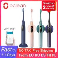 Oclean-cepillo de dientes eléctrico sónico X Pro, blanqueamiento de dientes, vibrador inalámbrico, 40 días, limpiador Ultra sónico, aplicación inteligente, WIFI, control