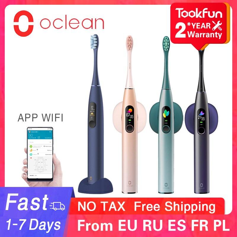 Oclean X Pro brosse à dents électrique sonique blanchiment des dents vibrateur brosse sans fil 40 jours Ultra sonique nettoyant application intelligente WIFI vérifier