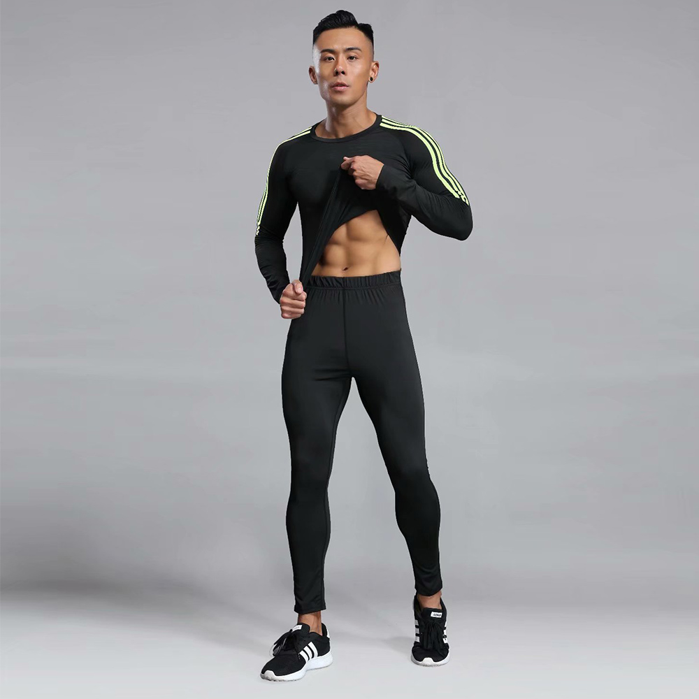 Man Sports Suit Quick-drying Sweat Compression Fitness Training MMA Kit rashguard Male Sportswear Jogging Running Clothes