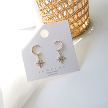 Fashion Simple Moon And Stars Set With Rhinestone Earrings Pendientes Mujer Moda Temperature Style Oorbellen