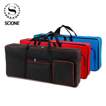 61 Key Keyboard Gig Bag Case,Portable Durable Keyboard Piano Waterproof 600D Oxford Cloth with 10mm Cotton Padded Case Gig Bag