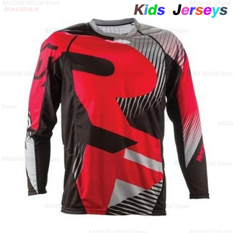2019 New Kids Quick Dry Motocross Jersey Downhil Mountain Bike DH Shirt MX Motorcycle Clothing Ropa for Boys MTB T-Shirts image