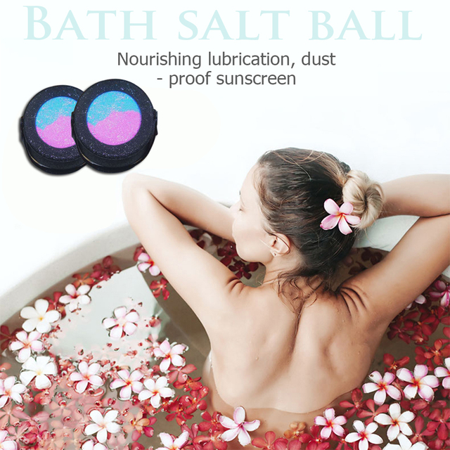 Shower Bombs Ball Body Spa Cleaner 1pc Bath Salt Ball Exfoliation Skin Care Product Shower Cleaner Bomb for Body Face Foot Relax 3