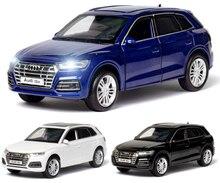 Diecast oyuncak modeli 1:32 ölçekli yeni Audi Q5 spor SUV araba geri çekin ses ışık çocuk hediye koleksiyonu ücretsiz kargo
