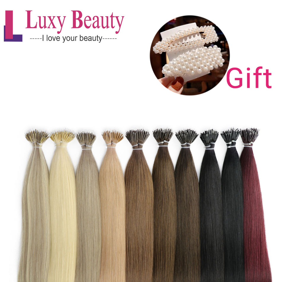 LuxyBeauty Hair Micro Link Hair Extensions Micro Ring Hair Extensions Nano Rring Hair Extensions 1g/pc Micro Bead Hair Extension