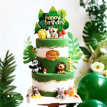 Ins Panda Leone Decorazione Rana per il Giorno dei bambini Toppers Torta Nuziale Del Partito di Buon Compleanno Decorazioni di Cottura Dolce Regali