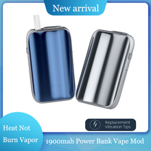 TT8 E Cigarette kit Heat Not Burn Vape 1900mAh Battery Case 3 Speed Adjustable Voltage Compatible With Iqos Sticks