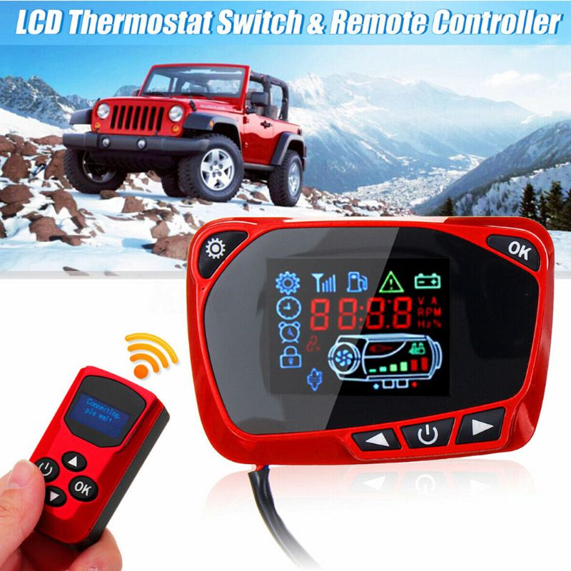 LCD Thermostat Display Switch W/Remote Controller 12/24V For Diesel Air Heater U1JF