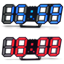 Bi-color LED Digital Alarm Clock Table Top Wall Mounted Temperature Display Clock with Loud Alarm Snooze