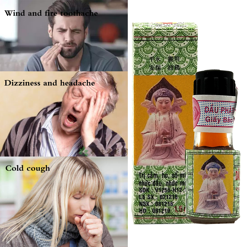 Natural Herbal Buddha Ointment Oil Treatment For Headaches, Stomachaches, Carsickness, Etc. Makes You Relaxed
