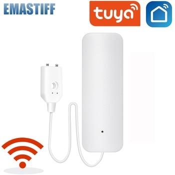 Detector de fugas de agua Wifi, Sensor de seguridad, alarma de desbordamiento, APP Smart Life, Tuya 4