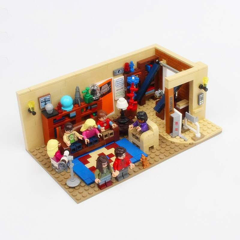 IN STOCK The Big 16024 Bang Theory 534Pcs and Central Perk Ideas 21302 Model Building Blocks Bricks Toys 21302 21319 image