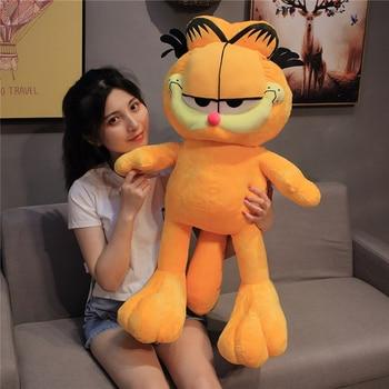20-80CM Kawaii Fat Cat Plush Toys Stuffed Animal Dolls Funny Plush Garfield Cat Toy Cartoon Soft Doll for Kids Birthday Gift недорого