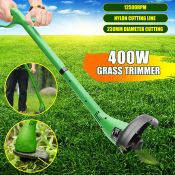500W Peaks Electric Grass Trimmer Strimmer Cutter Lawnmower Heavy Duty Lawn Mower Pruning Machine 230mm Garden Power Tools