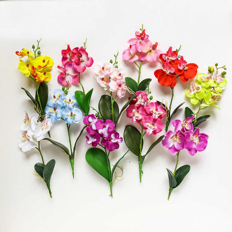 29cm פרפר סחלב מלאכותי פרח עבור בית מסיבת גן קישוט DIY פרח סידור אביזרי פלורס artificiales