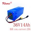 Комплект литиевых батарей KLUOSI 36 В 10S4P 14 Ач 42 в для электровелосипеда 250 Вт 450 Вт 750 Вт