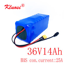 KLUOSI 36V 10S4P 14Ah 42V Lithium Battery Pack with For 250W 450W 750W Ebike Electric Bicycle Motor Scoote with 25A Balance BMS