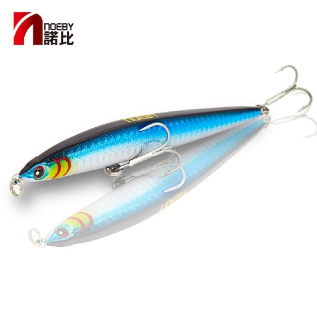 NOEBY NBL9126 pencil lure sinking stickbait blues code slim C Long Casting Fishing Lure Wobbler 125mm/21.5g for sea bass