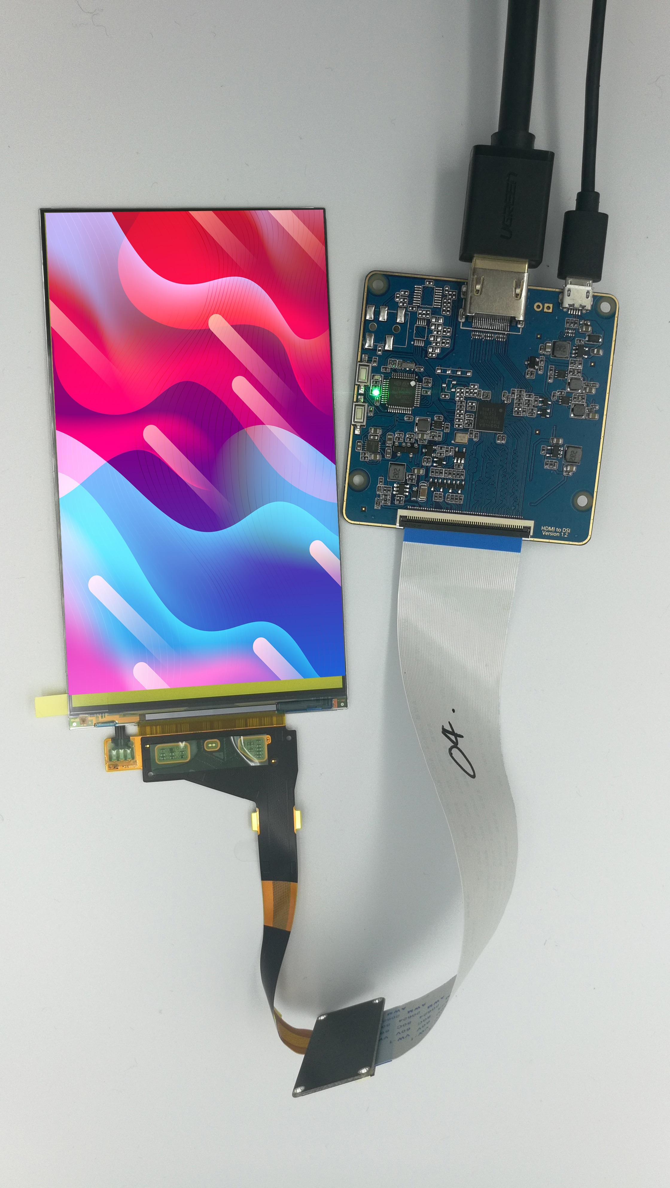 5.5 pouces 2K écran LCD 2560*1440 LS055R1SX04 avec carte dentraînement MIPI à HDMI pour projet de bricolage