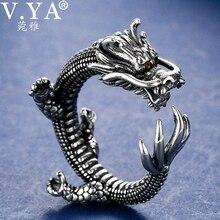 خاتمة للغاية من الفضة التايلاندية ، خواتم التنين ، نمط الصخور الصلبة 925 ، خاتم الإبهام من الفضة الإسترليني ، مجوهرات رجالية بسعر الجملة