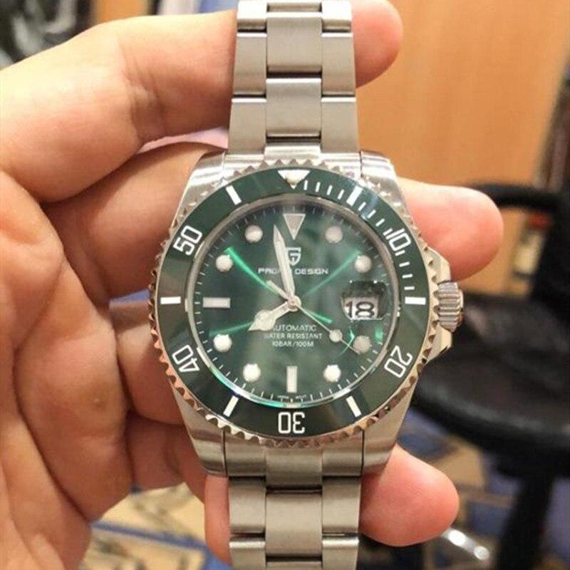 PAGANI DESIGN Brand Men Stainless Steel Waterproof Business Sport Mechanical Luxury Men Automatic Watch Clock Relogio Masculino
