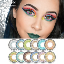 2pcs/pair Cosplay Halloween Cosmetic Contact Lens for Eyes Fashion 3 Tone Colored Contact Lenses Eye Colors Lenses Free Shipping
