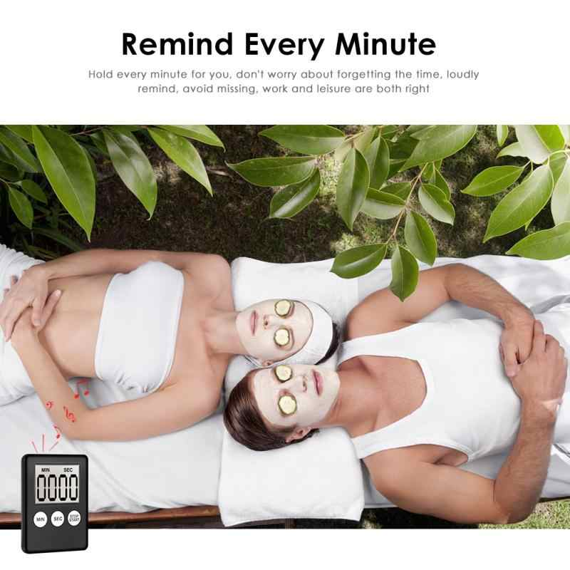 Mini LCD affichage numérique cuisine minuterie carré cuisine compte à rebours alarme aimant horloge sommeil chronomètre horloge minuterie 2019 chaude