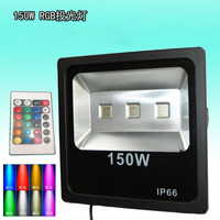 Wholesale 5pcs/lot 100W 150W 200W RGB Floodlight Remote Control AC220V 110V Refletor Waterproof Foco LED Exterior Light