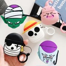 Funda con dibujos animados de Anime japonés para Apple AirPods, funda de pirata con calavera para Airpods 2, auriculares inalámbricos