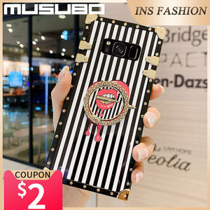 Image 5 - Musubo Luxury Case For Samsung Galaxy S20 Ultra S10 Plus S21 Square Back Cover Note 20 Ultra 10 Plus 9 Fundas Shockproof Coque