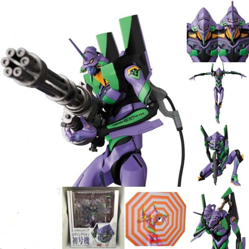 7.6inch New Mafex 080 EVA EVANGELION TEST TYPE EVA-01 Action Figures PVC Movable Collection Of Toy Gifts
