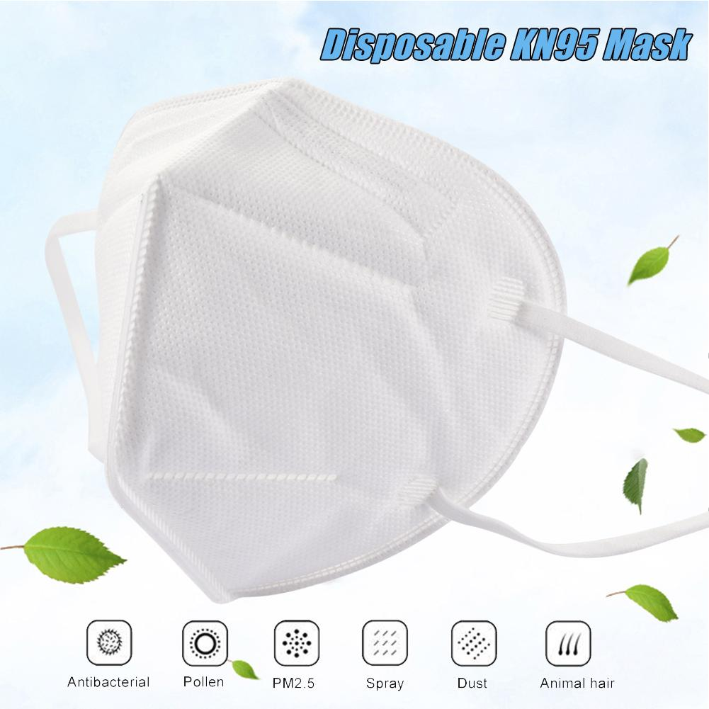 100pcs Disposable Protection Face Cover 4 Layer Non-woven Fabric Breathable Mouth-muffle 95% Isolate Flu Anti-fog Respirator
