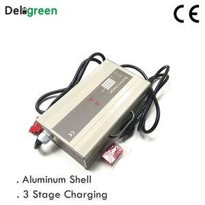 Image 2 - Cargador portátil inteligente para carretilla elevadora eléctrica 48V 10A 15A, Scooter para 16S 58,4 V Lifepo4 15S 63V LiNCM batería de ácido de plomo