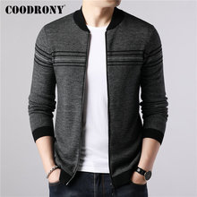 COODRONY Brand Sweater Coat Men Casual Striped Cashmere Wool Cardigan Men 2019 New Arrival Autumn Winter Warm Zipper Coats 91087