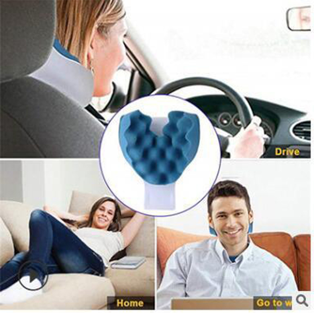 Chiropractic Pillow Neck and Shoulder Relaxer Cervical Pillow Neck Traction Device for Pain Relief Management and Cervical Spine